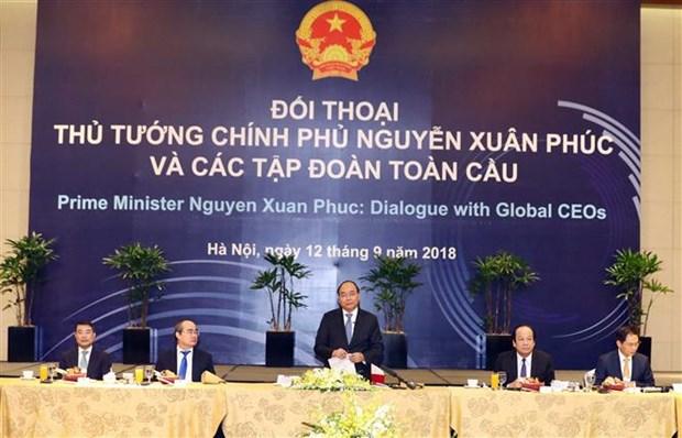 WEF ASEAN 2018 : le Premier ministre dialogue avec des groupes multinationaux hinh anh 1