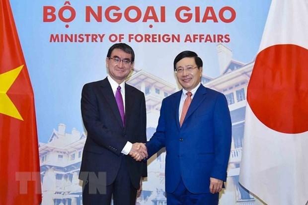 Le Vietnam et le Japon discutent des mesures visant a renforcer les relations bilaterales hinh anh 1