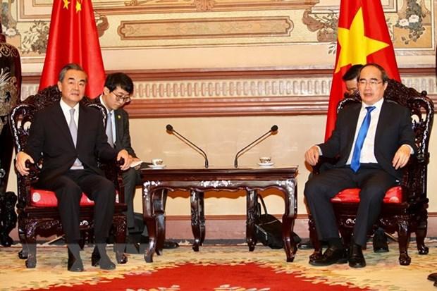 Le ministre chinois des AE en visite a Ho Chi Minh-Ville hinh anh 1