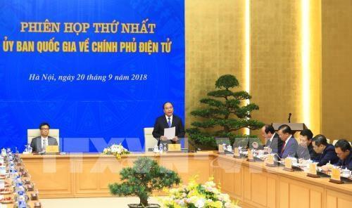 Le Comite national sur l'e-gouvernement tient sa premiere reunion hinh anh 1