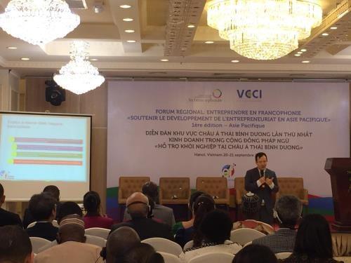 L'OIF et la VCCI organisent un forum sur le soutien de l'entrepreneuriat en Asie-Pacifique hinh anh 1