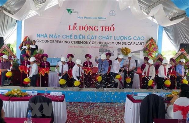 Construction d'une usine de silice a Thua Thien-Hue hinh anh 1