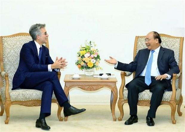 Le PM recoit le president du groupe allemand SAP hinh anh 1