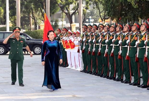 La presidente de l'AN a l'ouverture de la nouvelle annee scolaire de l'Academie de defense hinh anh 1