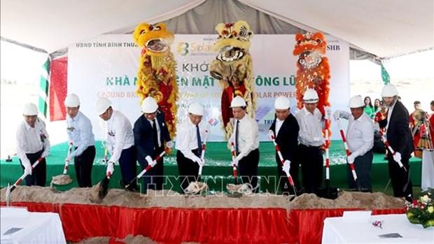 Binh Thuan : Mise en chantier de la centrale solaire de Song Luy 1 hinh anh 1
