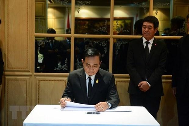 Deces du president Tran Dai Quang: Visite de condoleances du PM thailandais hinh anh 1