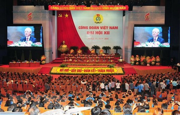 Grande seance du 12e congres syndical national du Vietnam hinh anh 1