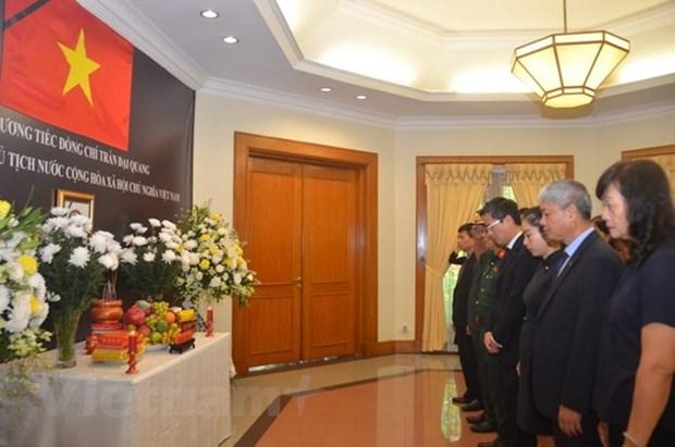 La ceremonie funeraire du president Tran Dai Quang a l'etranger hinh anh 1