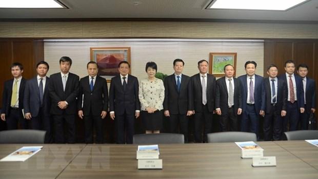 Le chef de la Commission centrale des affaires interieures du PCV en visite au Japon hinh anh 1