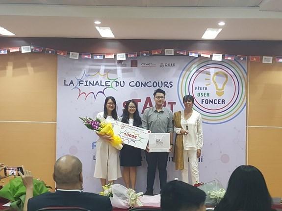 Le Vietnam remporte le 1er prix du concours de startup francophone 2018 hinh anh 1