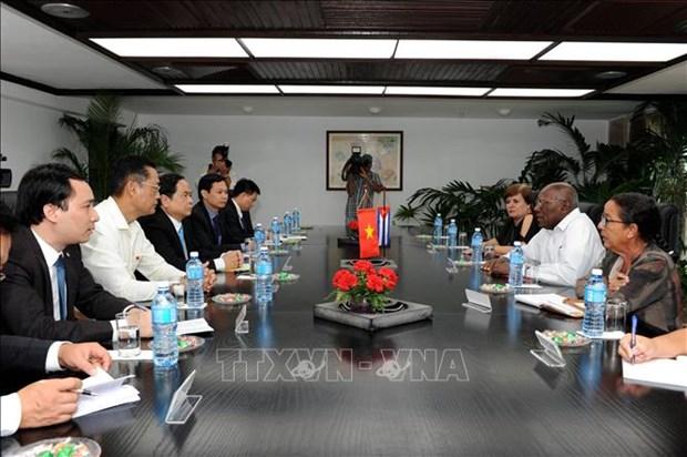 Des dirigeants cubains convaincus des belles perspectives de cooperation avec le Vietnam hinh anh 1