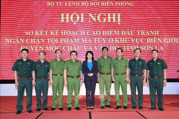 Conference bilan de la lutte contre la criminalite liee a la drogue a Son La hinh anh 1