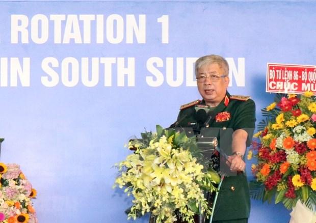 Ceremonie de depart des casques bleus vietnamiens pour le Soudan du Sud hinh anh 2