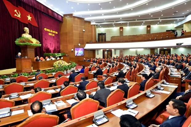 Le 8e plenum du Comite central du Parti communiste du Vietnam s'ouvre a Hanoi hinh anh 1