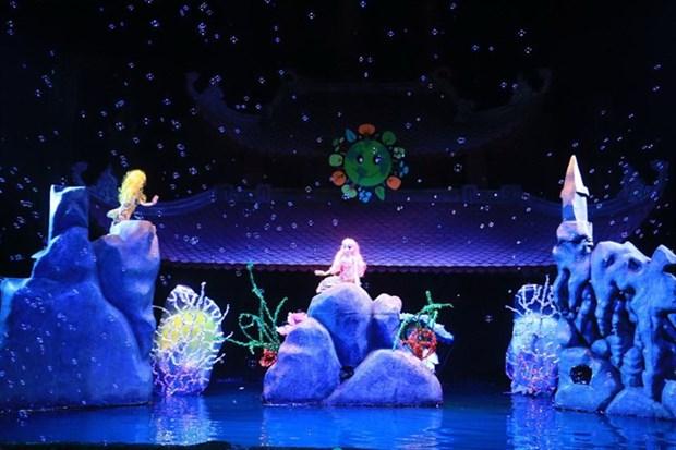 Une piece sur le climat au 5e Festival international des marionnettes a Hanoi hinh anh 1