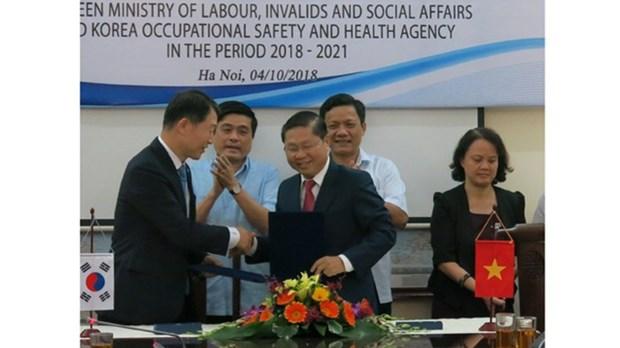 Securite et hygiene au travail: renforcement de la cooperation entre la R. de Coree et le Vietnam hinh anh 1