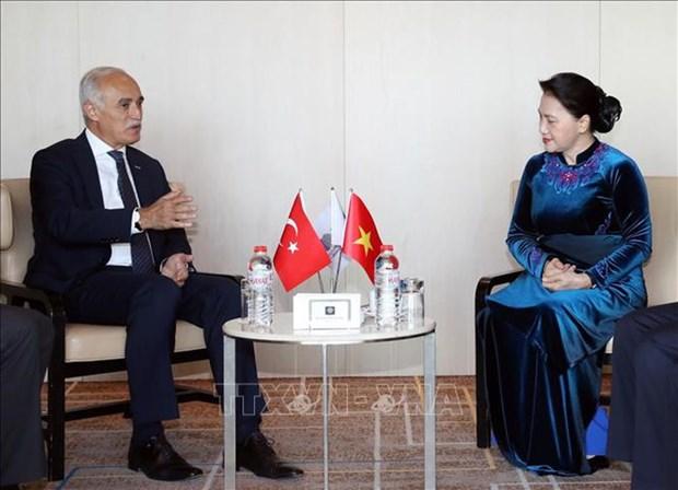 La presidente de l'AN rencontre le president du Conseil turc des Relations economiques exterieures hinh anh 1