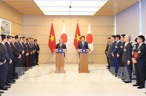 La visite du PM vietnamien largement couverte par les medias japonais hinh anh 1