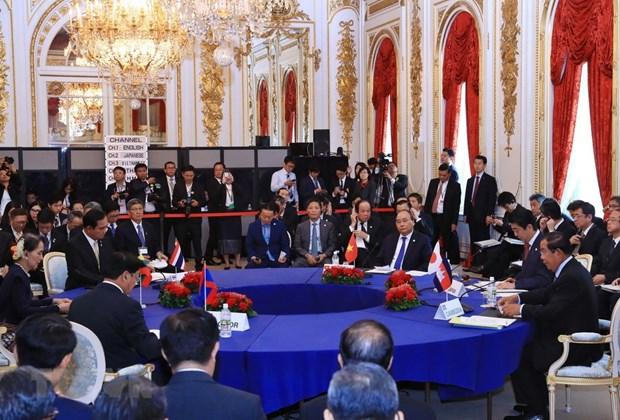 Le Premier ministre Nguyen Xuan Phuc s'adresse au 10eme sommet Mekong-Japon hinh anh 1