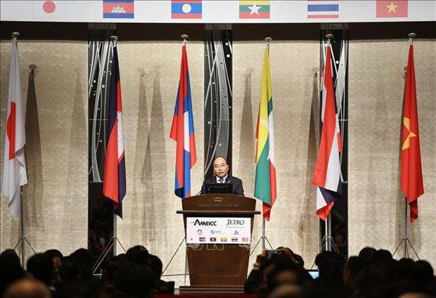 Le PM Nguyen Xuan Phuc participe a un forum d'affaires Mekong-Japon hinh anh 1