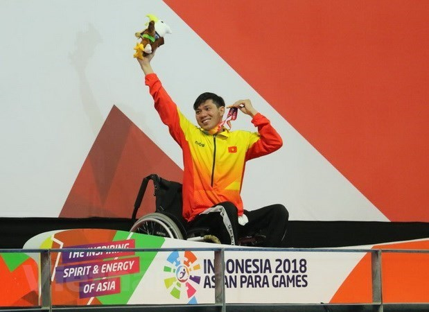 Asian Para Games 2018: le nageur Vo Thanh Tung decroche une autre medaille d'or hinh anh 1