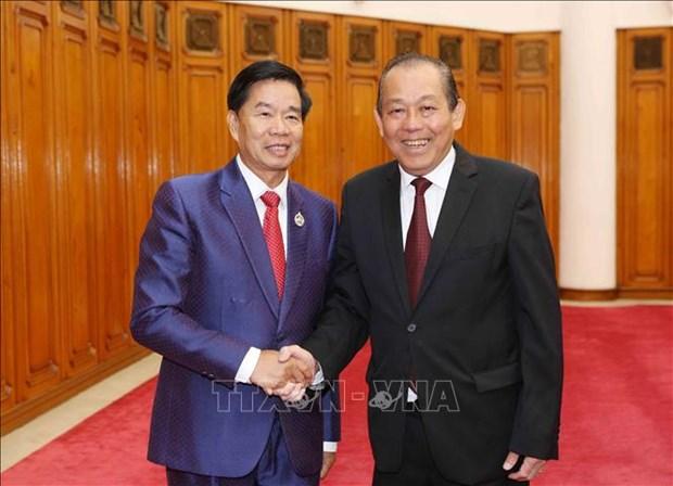 Renforcement de la cooperation entre Vientiane et des localites vietnamiennes hinh anh 1