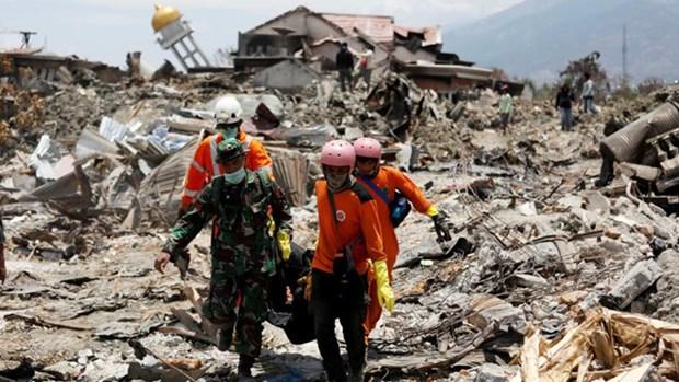 Les dirigeants de l'ONU et de la BM visitent une localite indonesienne touchee par le seisme hinh anh 1