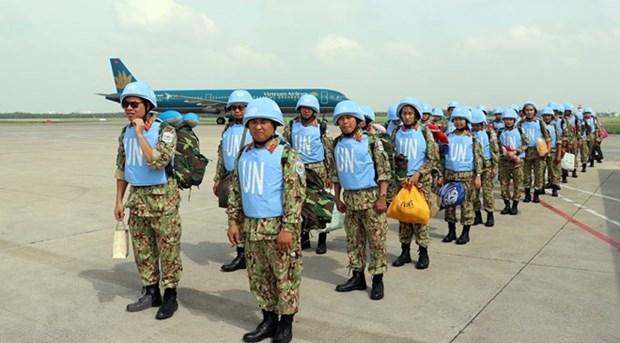 Depart du 2e groupe des forces de maintien de la paix du Vietnam pour le Soudan du Sud hinh anh 1