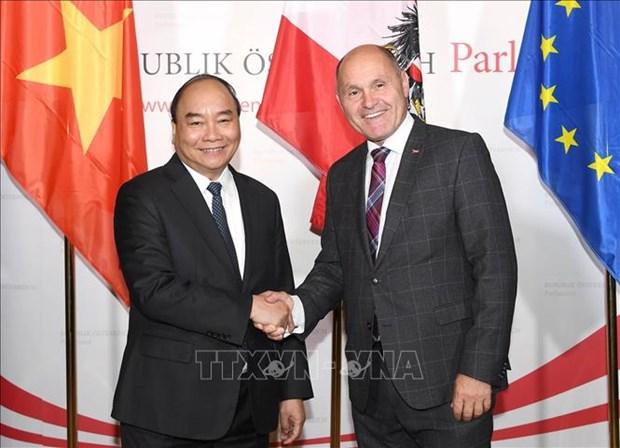Entrevue entre le PM Nguyen Xuan Phuc et le president du Conseil national autrichien hinh anh 1