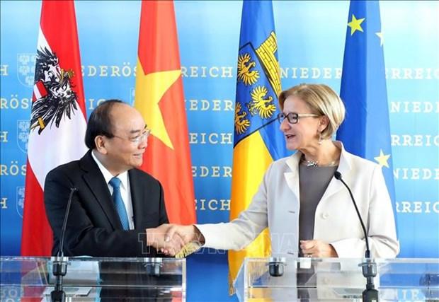 Le Premier ministre Nguyen Xuan Phuc en Basse-Autriche hinh anh 1