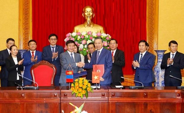 Le Vietnam et la Mongolie vont renforcer leur cooperation dans la lutte contre la criminalite hinh anh 1