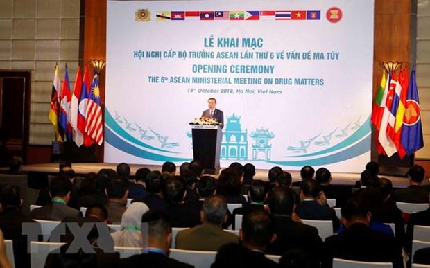 Ouverture de la 6e conference ministerielle de l'ASEAN sur la drogue a Hanoi hinh anh 1