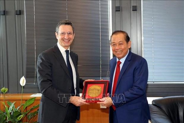 Renforcement de la cooperation judiciaire Vietnam - Italie hinh anh 1
