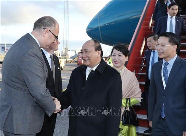 Le PM arrive a Copenhagen pour le Sommet du P4G et une visite officielle au Danemark hinh anh 1
