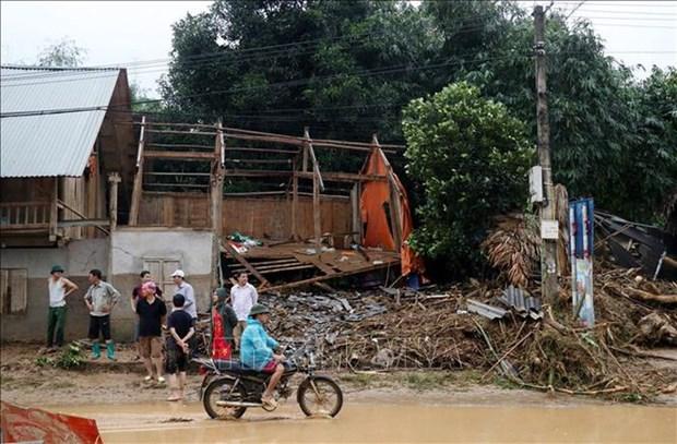 Des pluies torrentielles causent de lourds degats a Lao Cai et Ha Giang hinh anh 1