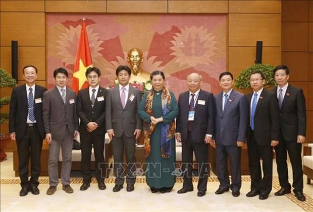 La vice-presidente de l'AN Tong Thi Phong recoit des experts japonais de la sante hinh anh 1