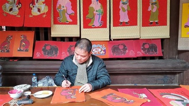 Exposition de six mouvements de peintures folkloriques du Vietnam hinh anh 1