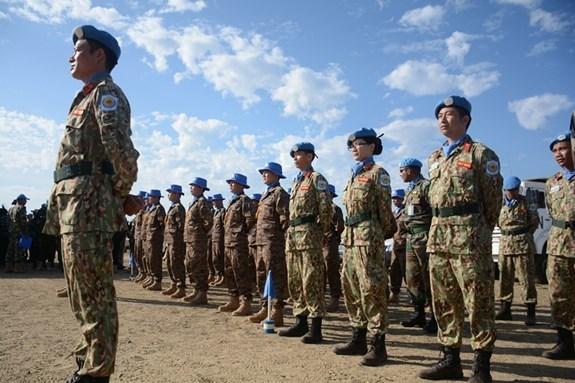 Les casques bleus vietnamiens a la celebration de la Journee de l'ONU au Soudan du Sud hinh anh 1