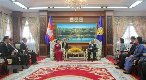 Le Vietnam et le Cambodge intensifient leur cooperation multiforme hinh anh 1