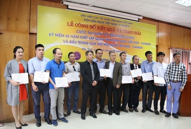 Les finalistes du concours de creation de logo sur les relations Vietnam-Canada a l'honneur hinh anh 1
