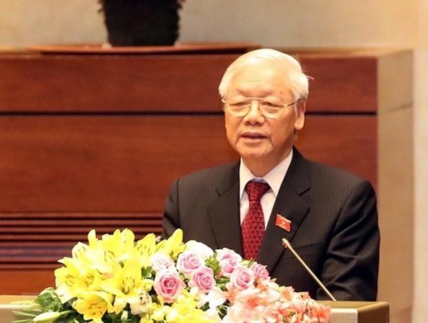 Felicitations des dirigeants etrangers au nouveau president Nguyen Phu Trong hinh anh 1