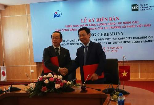 La JICA aide le Vietnam a ameliorer l'equite et la transparence du marche boursier hinh anh 1