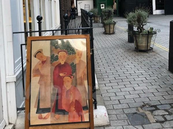 Le public de Londres impressionne par des œuvres de celebres peintres vietnamiens hinh anh 1