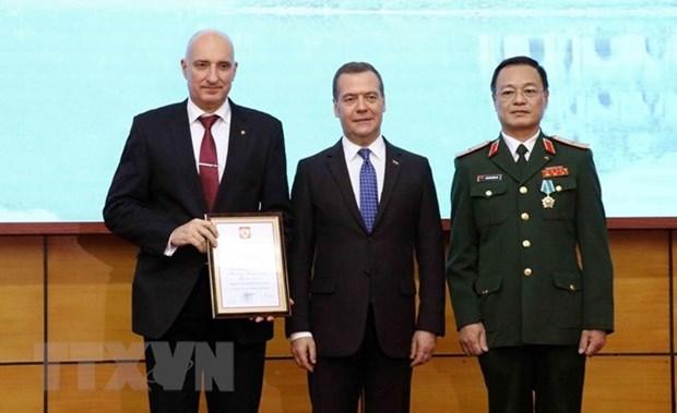Le Premier ministre russe felicite le Centre tropical vietnamo-russe hinh anh 1