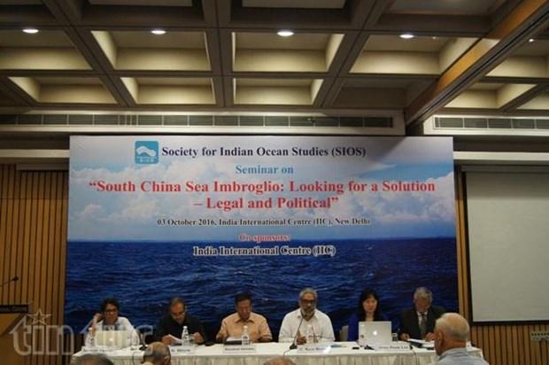 Mer Orientale : seminaire sur la recherche de mesures juridiques et politiques en Inde hinh anh 1