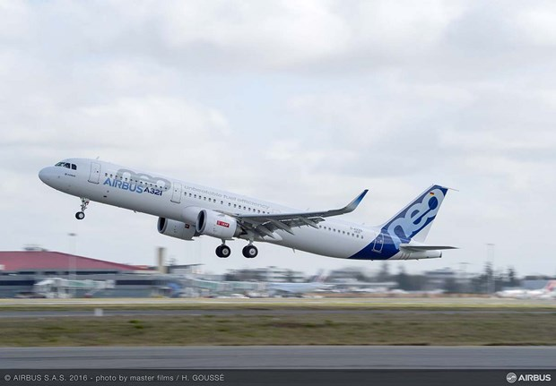 Le premier Airbus A321neo remis a Vietnam Airlines hinh anh 1