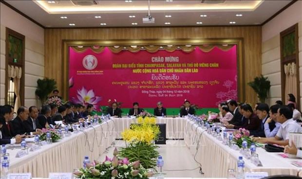 Dong Thap et des localites laotiennes promeuvent les investissements hinh anh 1