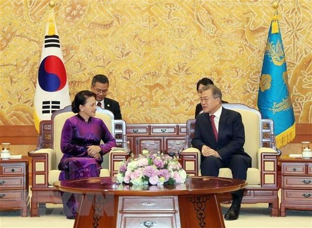 La rencontre entre Nguyen Thi Kim Ngan et Moon Hee-sang couverte par la presse sud-coreenne hinh anh 1