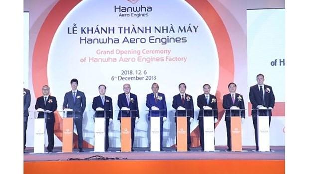 Inauguration de l'usine Hanwha Aero Engines a Hanoi hinh anh 1