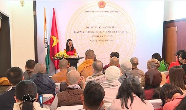 Rencontre de la communaute vietnamienne en Inde et au Nepal hinh anh 1